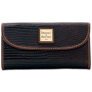 New Dooney & Bourke Lizard-Embossed Leather Wallet